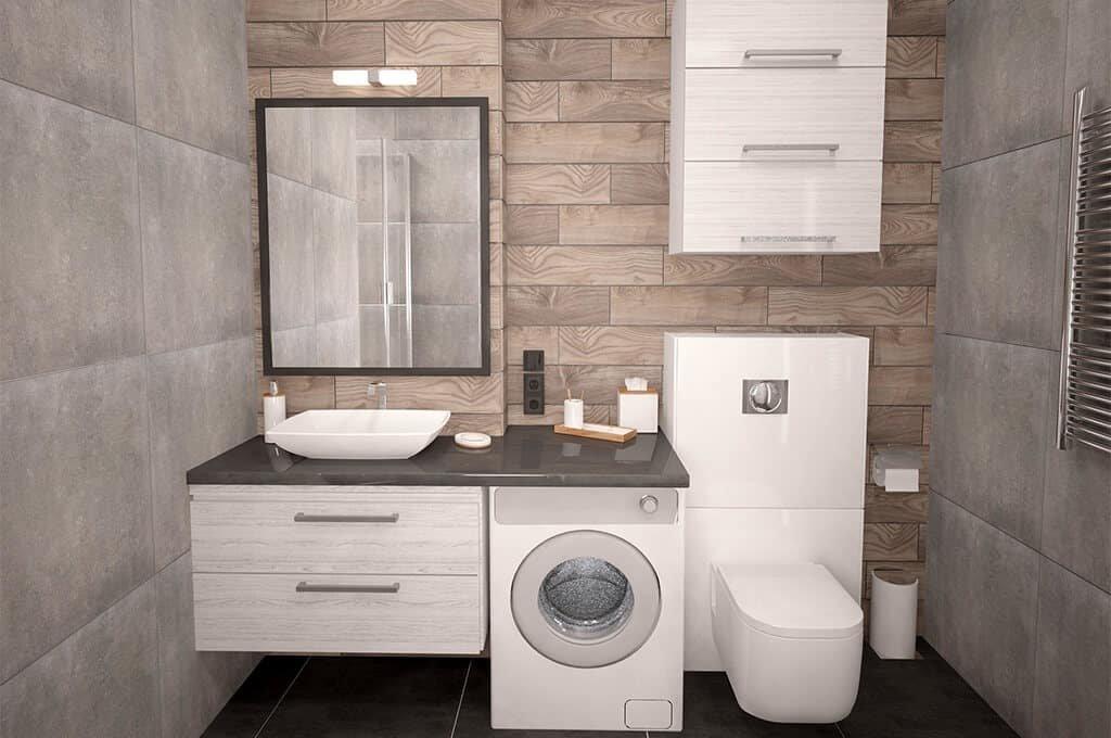 """alt=""""zabudowana pralka w kuchni? czy zaubowana łazienka na wymiar z idealnie dopasowaną pralką, to dylemat który coraz częściej pomagamy rozwiązać naszym klientom"""">"""